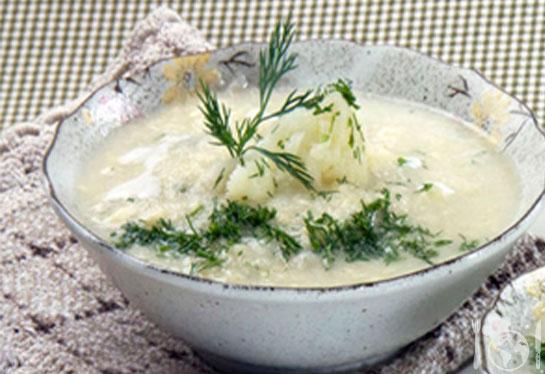 Суп-пюре з кольорової капустою