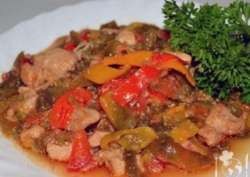 Піджарка зі свинини з овочами