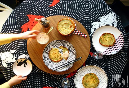 Китайские блинчики с луком
