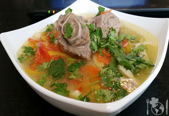 Суп из баранины и домашней лапши