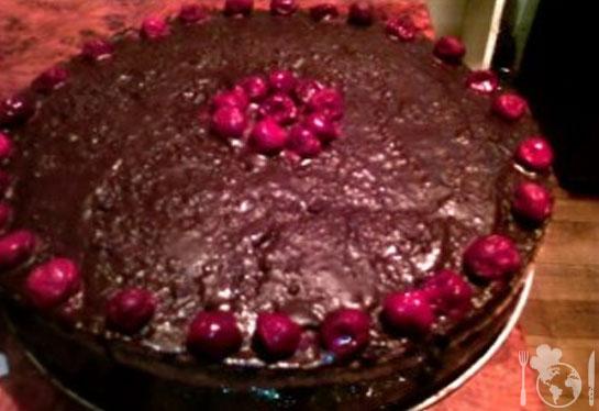 Торт Пьяная вишня в шоколаде
