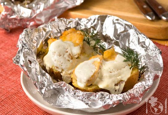 Курица с картофелем и сыром