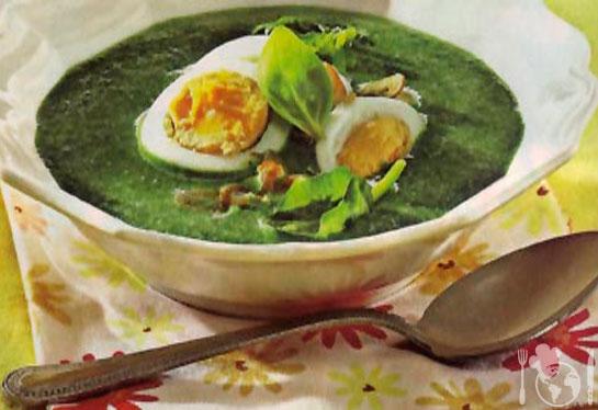 Венгерский суп-пюре из шпината