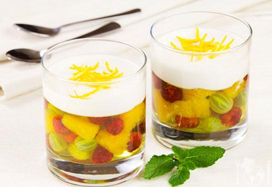 Сливочно-фруктовое желе