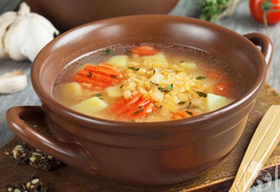 Суп из чечевицы с овощами